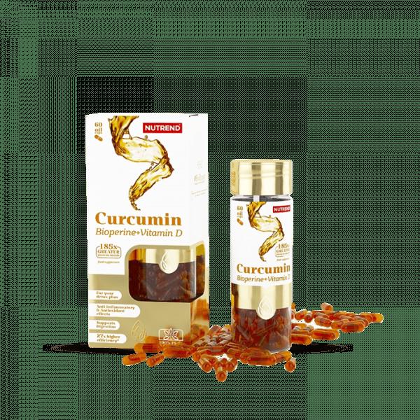 NUTREND CURCUMIN + BIOPERINE + VITAMIN D, 60 Kapseln Health Produkte