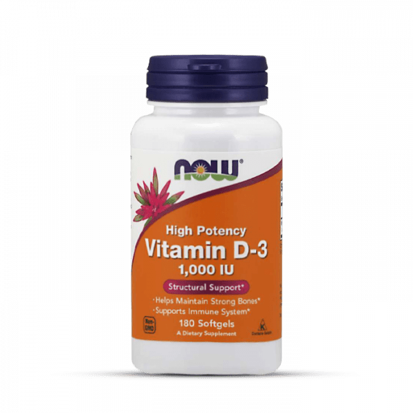 Now Foods - Vitamin D3 1000iu (180) Standard Vitamine und Mineralien