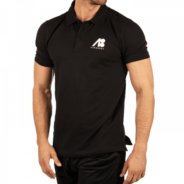 ATOMBODY Polo Shirt Basic, men, M, black Sportbekleidung