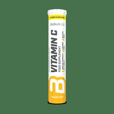BioTechUSA Vitamin C Brausetabletten, 20 Stück, Zitrone