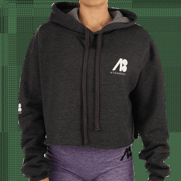 ATOMBODY Hoodie Fleece kurz, woman, dark grey Sportbekleidung