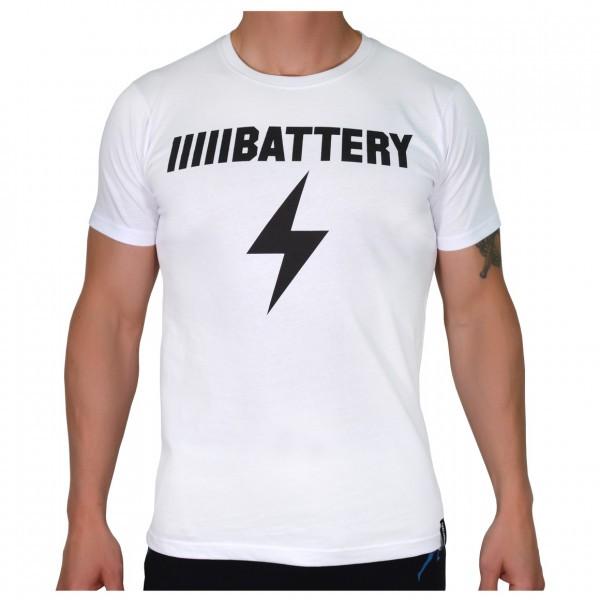BATTERY Shirt weiß Sportbekleidung