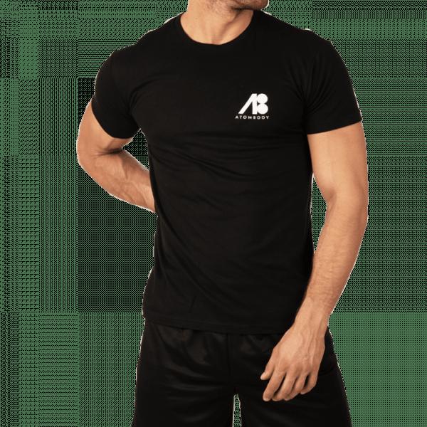 ATOMBODY T-Shirt Basic, men, black Sportbekleidung