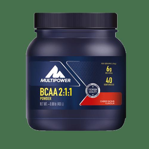 MULTIPOWER BCAA 2:1:1 400g - Cherry Bomb - MHD 30.04.2021