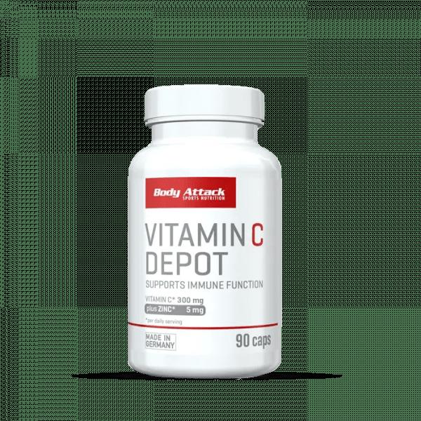 Body Attack Vitamin-C Depot 90 Kapslen Vitamine und Mineralien
