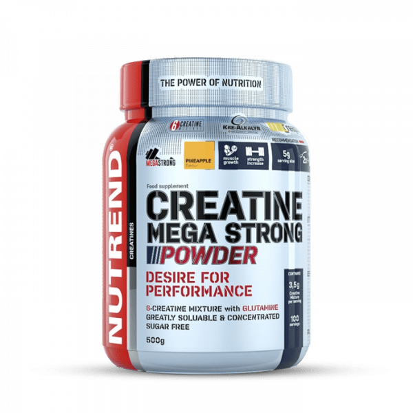 NUTREND Creatine Mega Strong Powder 500g Kreatin - Pineapple - MHD 12.03.2021