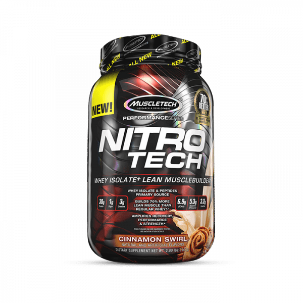 Muscletech - Performance Series Nitro-Tech, 908g - Chocolate Chip Cookie Dough Proteine