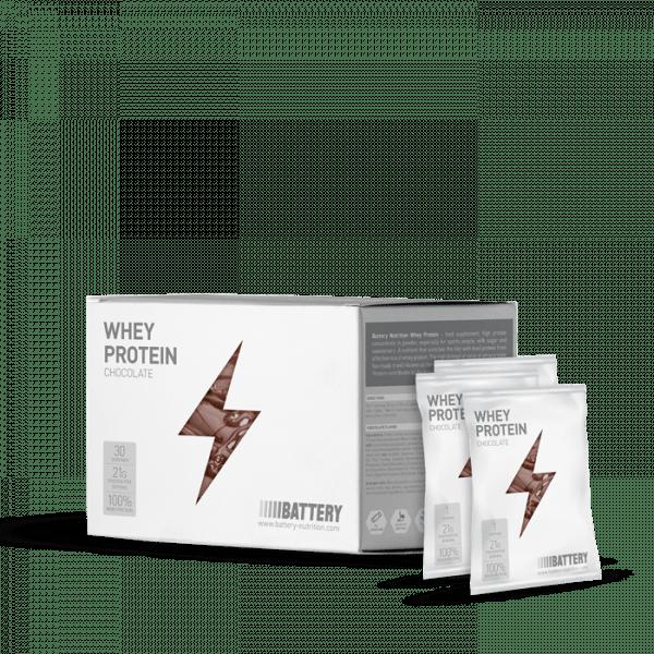 BATTERY WHEY PROTEIN, 30x30g, Chocolate Proteine