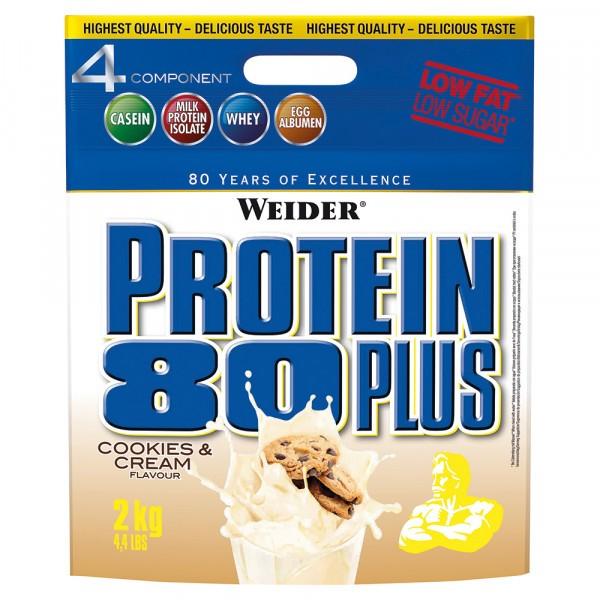 WEIDER Protein 80 Plus 2000g - Cookies & Cream - MHD 30.09.2021