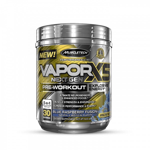 Muscletech - Performance Series Vapor X5 Next Gen (30 Serv.) Blue Raspberry Fusion Trainings Booster
