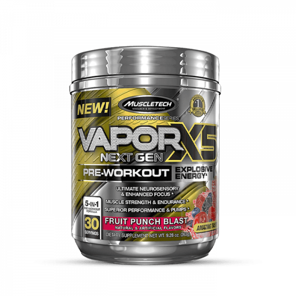 Muscletech - Performance Series Vapor X5 Next Gen (30 Serv.) Fruit Punch Blast Trainings Booster