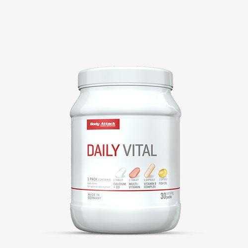 BODY ATTACK Daily Vital 30 Portionen 30 Päckchen Vitamine und Mineralien - MHD 30.06.2021
