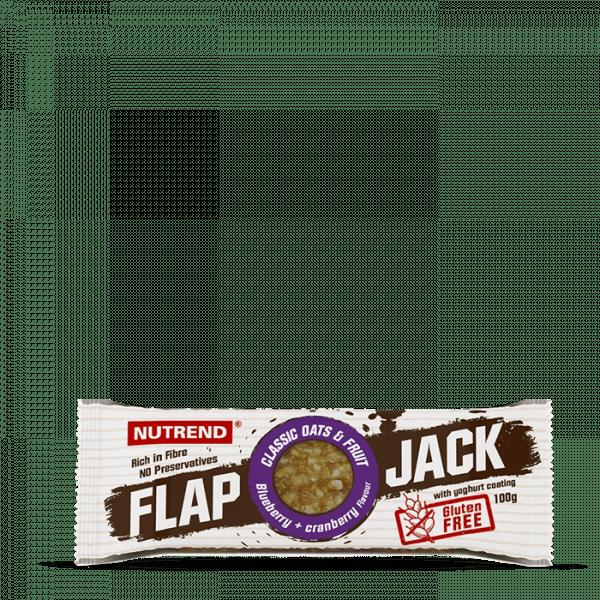 NUTREND FLAPJACK GLUTEN FREE 20 x 100g - Blueberry + Cranberry with Yogurt coating - MHD 13.06.2020