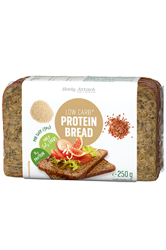 Body Attack Low-Carb Protein-Bread, 250g - MHD 01.12.2019