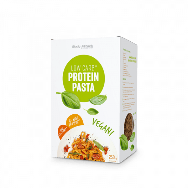 BODY ATTACK Low-Carb Protein-Pasta Vegan, 250g Food