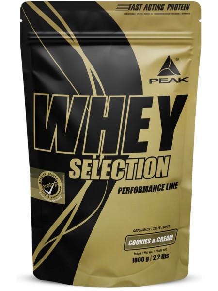 PEAK Whey Selection 1000g Proteine - Cookies & Cream - MHD 30.04.2021