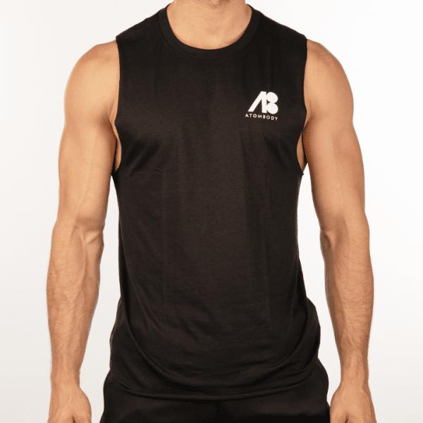 ATOMBODY T-Shirt Ärmellos Freelift, men, L, black