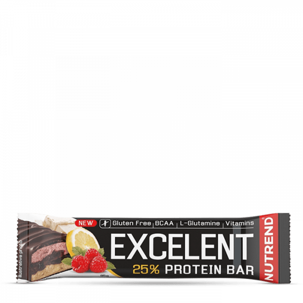 NUTREND EXCELENT BAR DOUBLE 18 x 85g - Lemon + Curd + Raspberry with Cranberries - MHD 30.05.2020