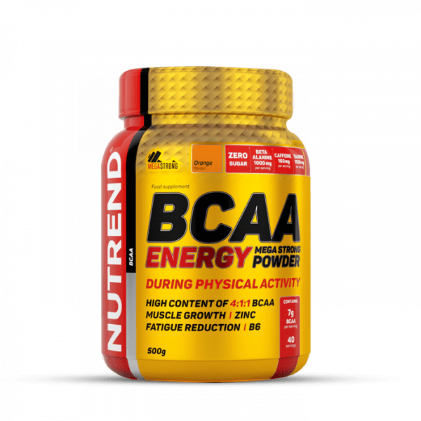 NUTREND BCAA ENERGY MEGA STRONG POWDER 500g Orange Aminos