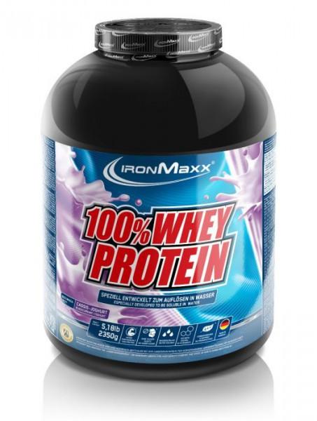 IRONMAXX 100% Whey Protein 2350g - Cassis-Yoghurt - MHD 30.06.2021