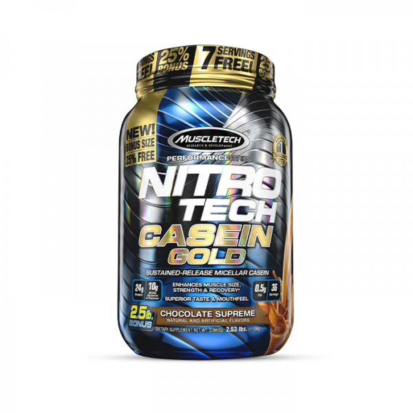 Muscletech - Performance Series Nitro Tech Casein Gold, 1152g -Chocolate Supreme Proteine