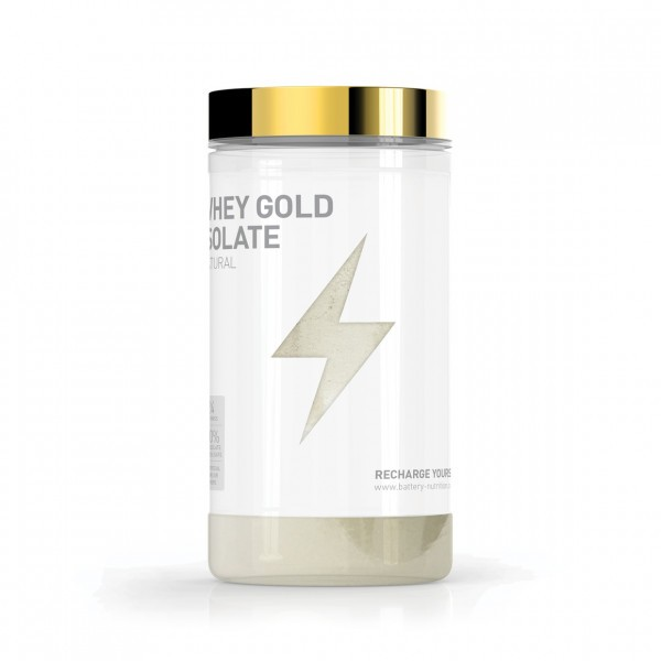 BATTERY WHEY GOLD ISOLATE NATURAL, 600g Proteine - MHD 30.09.2020