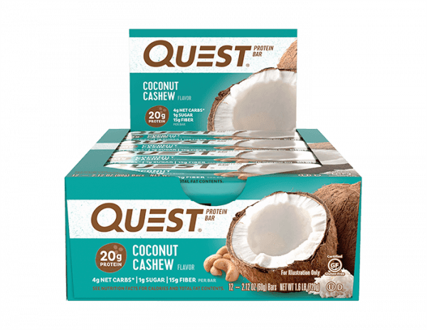 Quest Nutrition - Quest Bars, (12 x 60g) - Coconut Cashew - MHD 28.01.2020