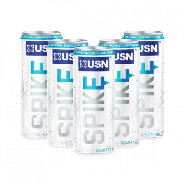 USN SPIKE SUGAR FREE ENERGY DRINK, 24x250ml Drinks