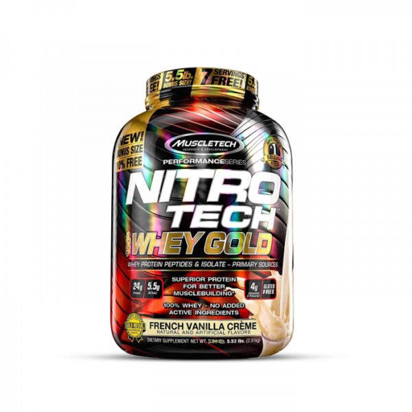 Muscletech - Performance Series Nitro Tech 100% Whey Gold, 2508g - French Vanilla Creme