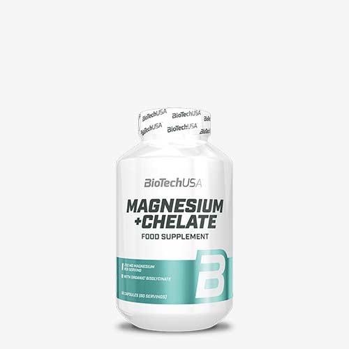 BIOTECHUSA Magnesium + Chelate 60 Kapseln Vitamine und Mineralien