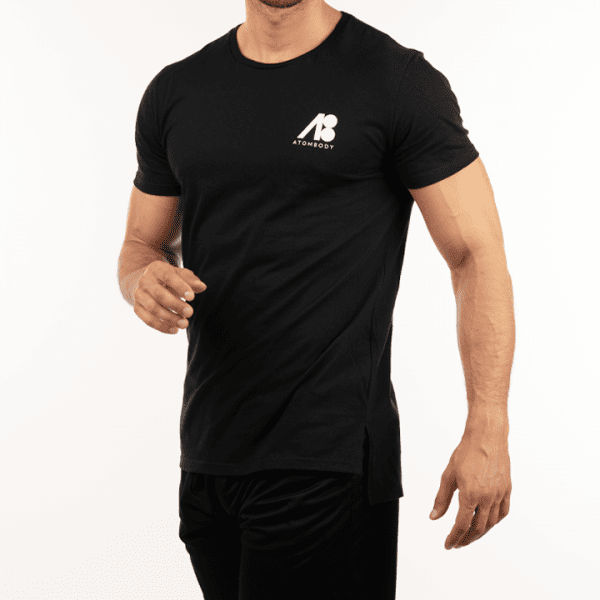 ATOMBODY T-shirt ultra long, men, L, black