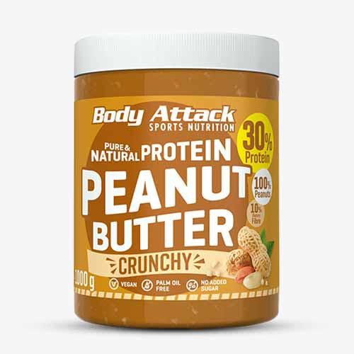 BODY ATTACK Peanut Butter crunchy, 1000g Food