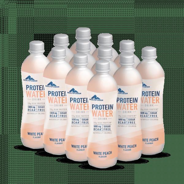 MULTIPOWER Protein Water 0,5l, Tray 12 Stück Drinks