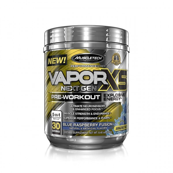 Muscletech - Performance Series Vapor X5 Next Gen (30 Serv.) Blue Raspberry Fusion
