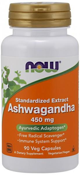 NOW FOODS - Ashwagandha 450mg 90 Veg Kapseln