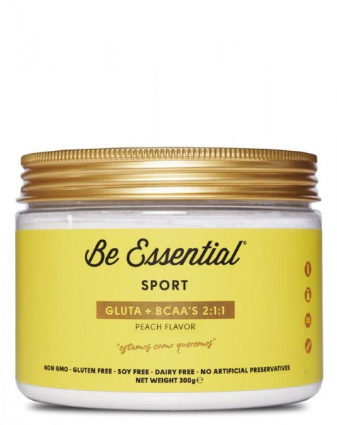 Be Essential GLUTAMINE BCAA'S, 300g, PEACH
