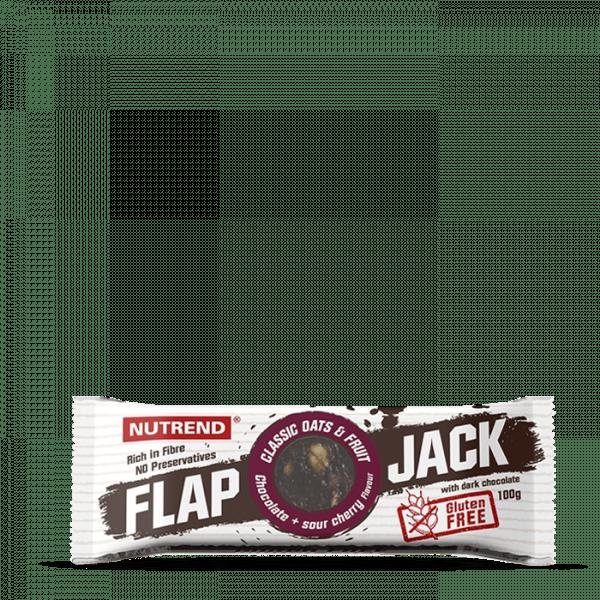 NUTREND FLAPJACK GLUTEN FREE 20 x 100g - Chocolate + Sour Cherry with Dark Chocolate - MHD 13.06.202