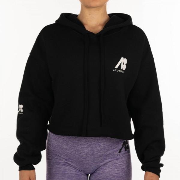 ATOMBODY Hoodie Fleece kurz, woman, XL, black