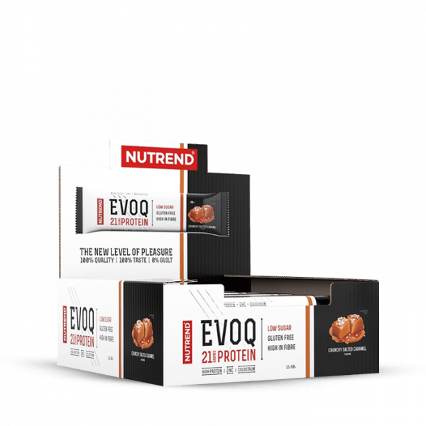 NUTREND EVOQ 12 x 60g Bars und Snacks - Salted Caramel - MHD 01.10.2020