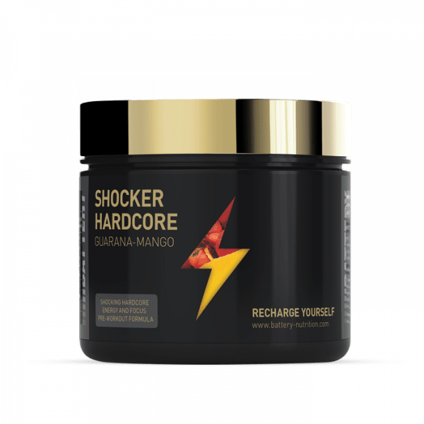 BATTERY SHOCKER HARDCORE, 420g, Guarana - Mango Trainings Booster