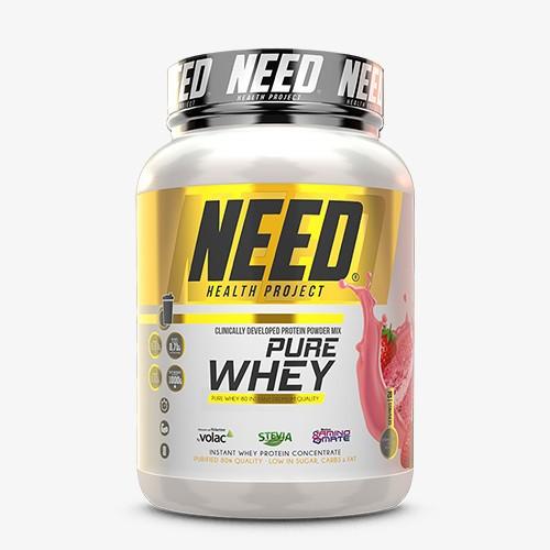 NEED PURE WHEY 1000g Proteine - STRAWBERRY CAKE - MHD 30.06.2021