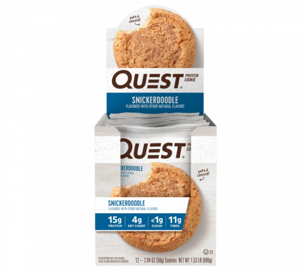 Quest Nutrition - Protein Cookie (12x59g) Snicker Doodle Bars und Snacks