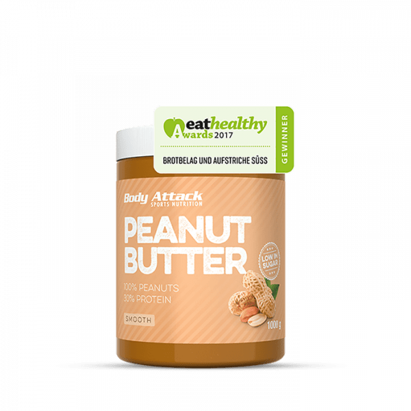 Body Attack Peanut Butter smooth, 1000g Food