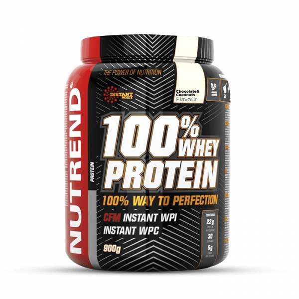 NUTREND 100% Whey Protein 900g Proteine - Chocolate + Coconut - MHD 19.05.2021