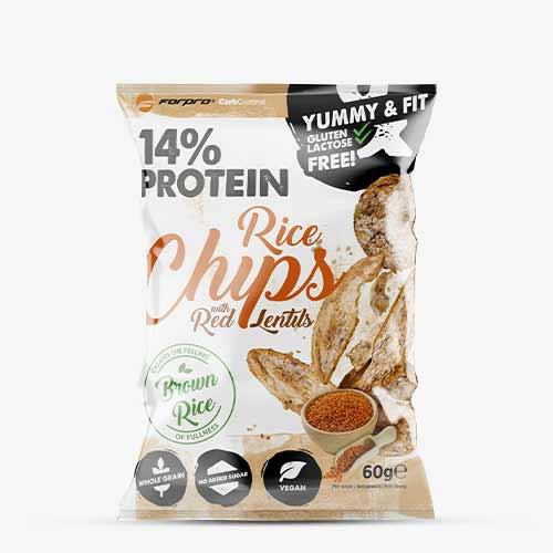 FORPRO 14% Protein Brown Rice Chips 18 x 60g