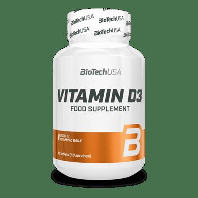 BioTechUSA Vitamin D3, 60 Tabletten Vitamine und Mineralien