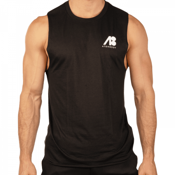 ATOMBODY T-Shirt Ärmellos Freelift, men, L, black Sportbekleidung