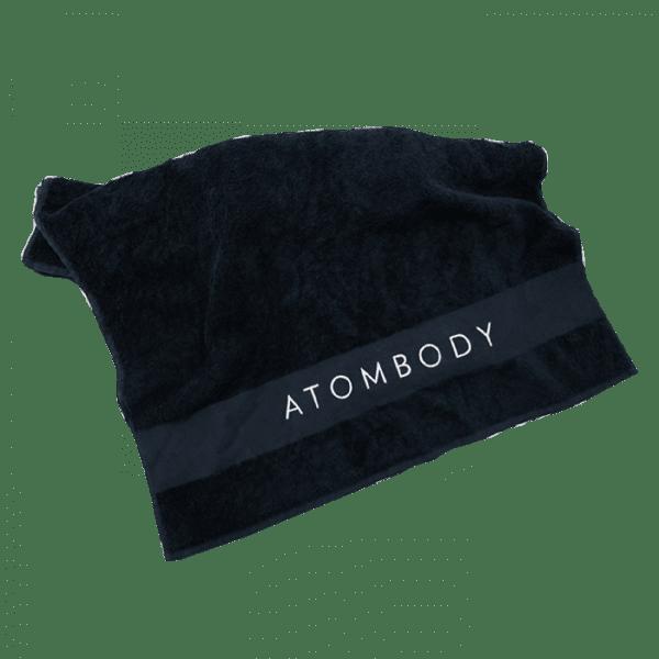 ATOMBODY Handtuch, schwarz Trainingszubehör