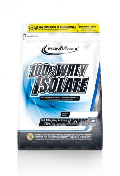 IRONMAXX 100% Whey Isolate Beutel 750g
