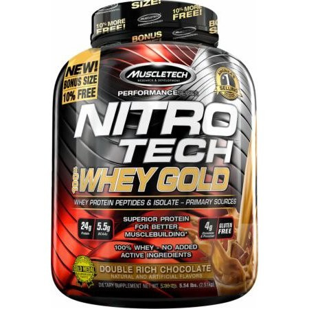 Muscletech - Performance Series Nitro Tech 100% Whey Gold, 2508g - Double Rich Chocolate